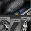 Pre-order กระเป๋าสตางค์ผู้ชาย กระเป๋าคลัชท์ หนังแท้ปั้มรูปหัวกระโหลก สีน้ำเงิน thumbnail 9