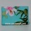 กระเป๋าเครื่องสำอางค์ นารายา Summer ผ้าคอตตอน สีเขียว ลายดอกไม้ มีกระจกในตัว Size L (กระเป๋านารายา กระเป๋าผ้า NaRaYa) thumbnail 4