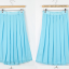 Pre-Order กระโปรงจีบรอบตัว กระโปรงผ้าชีฟอง มีผ้าโปร่งอยู่ชั้นนอก ความยาวคลุมเข่า สีฟ้า เสื้อผ้าแฟชั่นสไตล์เรโทร วินเทจ thumbnail 3