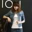 Pre-Order ขุดเสื้อแจ็คเก็ตยีนส์คอปกแขนสามส่วน เอวลอย แบบเข้ารูป ยีนส์ฟอก แฟชั้นนเกาหลี thumbnail 2