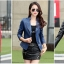 (Pre-order) เสื้อแจ็คเก็ตหนังแท้ เสื้อหนัง เสื้อโค๊ทหนัง เสื้อหนังแกะ แฟชั่นเสื้อหนัง สีน้ำเงิน thumbnail 4