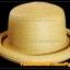หมวกสาน หน้ายิ้ม สีน้ำตาลอ่อน ปีกรอบม้วน น่ารักมากกกกก !!! thumbnail 4