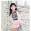 คอลเลคชั่นใหม่ 2016 เสื้อยืนแขนสั้นสีเทา สกรีนอักษรสีชมพู ผ้ายืดนิ่มมาก PinkIdea thumbnail 4