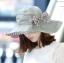 Pre-order หมวกแฟชั่น หมวกใบกว้าง หมวกฤดูร้อน กันแดด ผ้าลินิน สีเขียว thumbnail 1