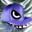 หมวกฉลาม ปากอ้า สีม่วง (2 ปีก) สุดเท่ห์ thumbnail 2