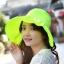 Pre-order หมวกแฟชั่น หมวกใบกว้าง หมวกฤดูร้อน กันแดด ผ้าโพลีเอสเตอร์ สีเหลืองเรีองแสง thumbnail 1