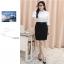 (Pre-order) เสื้อเชิ้ตทำงาน เสื้อเชิ้ตผู้หญิงแขนยาว สีขาว ไซส์ใหญ่ thumbnail 6