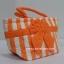 กระเป๋าถือ นารายา Size S ผ้าคอตตอน ลายทาง สีส้ม สลับขาว ผูกโบว์ สีส้ม สายหิ้ว หูเกลียว (กระเป๋านารายา กระเป๋าผ้า NaRaYa กระเป๋าแฟชั่น) thumbnail 1