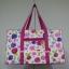 กระเป๋าเดินทาง นารายา Size L ทรงสี่เหลี่ยม ผ้าคอตตอน พื้นสีขาว ลายดอกไม้ หลากสี (กระเป๋านารายา กระเป๋า NaRaYa กระเป๋าผ้า) thumbnail 2
