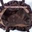 กระเป๋าถือ นารายา ผ้าซาตินมัน ลายตารางเล็ก สีน้ำตาล มีระบายด้านบน สายหิ้ว หูเปีย (กระเป๋านารายา กระเป๋าผ้า NaRaYa กระเป๋าแฟชั่น) thumbnail 8