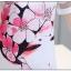 ชุดเดรสแฟชั่นเกาหลีพิมพ์ลายดอกไม้หน้าอกแขนตัดต่อซีทรูน่ารัก สีขาว thumbnail 5