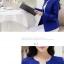 Pre-Order เสื้อสูทแฟชั่นเกาหลี เสื้อสูทเข้ารูป แขนยาว ซับในครึ่งตัว ไม่มีปก สีลูกกวาด สีน้ำเงิน thumbnail 2