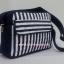 กระเป๋าสะพาย นารายา ทรงสี่เหลี่ยม ผ้าคอตตอน ลายทาง น้ำเงิน-ขาว (กระเป๋านารายา กระเป๋าผ้า NaRaYa กระเป๋าแฟชั่น) thumbnail 1