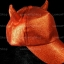 หมวกกากเพชร กลิตเตอร์ Glitter สีแดง Devil thumbnail 2