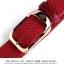 พรีออเดอร์ เข็มขัดผู้ชาย เข็มขัดเชือกถักแต่งด้วยหนังแท้สีแดง หัวสีทอง เวอร์ชั่นเกาหลี thumbnail 3