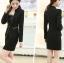 พรีออเดอร์ เสื้อสูทแฟชั่นเกาหลี สีดำ คอจีน กุ๊นริมด้วยผ้าสีครีม thumbnail 2