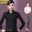 (Pre-order) เสื้อเชิ้ตทำงาน เสื้อเชิ้ตผู้หญิงแขนยาว เชิ้ตดำ แฟชั่นเกาหลี ไซส์ใหญ่ thumbnail 2