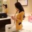 Pre order เสื้อสูทแฟชั่นเกาหลี ปกสูท แขนยาว แต่งด้วยผ้าต่างสีที่ปกและกระเป๋า สีเหลือง thumbnail 1