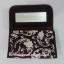 กระเป๋าเครื่องสำอางค์ นารายา ผ้าคอตตอน สีน้ำตาล พิมพ์ลายดอกไม้ มีกระจกในตัว Size L (กระเป๋านารายา กระเป๋าผ้า NaRaYa) thumbnail 5