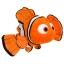 Z Nemo Plush - Finding Nemo - Mini Bean Bag - 9'' thumbnail 1