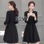 Sevy V-Neck Classy Black Ribbon Waist Dress Type: Dress Fabric: Spandex เนื้อผ้าเกรดดี เนื้อผ้ายืดหยุ่นได้ เนื้อผ้ามีน้ำหนักค่อนข้างมาก Detail : Dress ลุคเรียบหรู คอวี แขนยาว ชายแขนเสื้อผ่าขึ้นเล็กน้อย กระดุมผ่าหน้าใส่ง่าย มาพร้อมเชือกผ้าผูกเอว ใส่ออกมาแล thumbnail 9