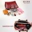 (Pre-order) กระเป๋าหนังแท้ กระเป๋าสะพายผู้หญิง หนังเรียบ แบบคลาสสิค สไตล์ยุโรป อเมริกา สีดำ thumbnail 6