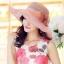 Pre-order หมวกผ้าไหมแท้ติดโบว์ดอกไม้แฟชั่นฤดูร้อน กันแดด กันแสงยูวี สวยหวาน สีชมพู thumbnail 2