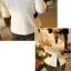 Pre order เสื้อสูทแฟชั่นเกาหลี ปกสูท แขนยาว แต่งด้วยผ้าต่างสีที่ปกและกระเป๋า สีดำ thumbnail 3