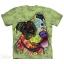 Pre. เสื้อยืดพิมพ์ลาย 3D The Mountain T-shirt : American Bulldog painted green background 3d stereoscopic thumbnail 1