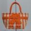 กระเป๋าถือ นารายา Size S ผ้าคอตตอน ลายทาง สีส้ม สลับขาว ผูกโบว์ สีส้ม สายหิ้ว หูเกลียว (กระเป๋านารายา กระเป๋าผ้า NaRaYa กระเป๋าแฟชั่น) thumbnail 2