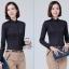 Pre-order เสื้อผ้าแฟชั่นเกาหลีปี 2017 เสื้อเชิ้ตทำงาน เสื้อผ้าทำงาน แขนยาว กระดุมหน้า ผ้าฝ้ายผสม มี 6 สี ดำ ขาว ชมพู ฟ้า แดง กรมท่า thumbnail 10