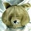 หมวก Bear หูหมี ขนสัตว์นุ่มๆ สีน้ำตาลเทาอมเขียว thumbnail 5