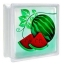 บล็อคแก้ว ลาย แตงโม ช้างแก้ว (ก้อนเดี่ยว) thumbnail 1