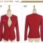 Pre-Order เสื้อสูททำงานแขนยาว เสื้อสูทผู้หญิง สูทลำลอง สีไวน์แดง แฟชั่นชุดทำงานสไตล์เกาหลี thumbnail 7