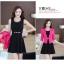 ชุดเดรสกระโปรงบานสีดำ+เสื้อสูท สีชมพูบานเย็น (ขายแยกชิ้น) thumbnail 7