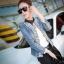 Pre-order เสื้อสูทแฟชั่น สูทยีนส์เข้ารูป สูทบาง ประดับด้วยคริสตัล แฟชั่นเสื้อสูทเวอร์ชั่นเกาหลี thumbnail 1