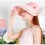 Pre-order หมวกแฟชั่น หมวกแก็ปปีกกว้าง หมวกฤดูร้อน กันแดด กันแสงยูวี สีชมพู thumbnail 2