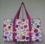 กระเป๋าเดินทาง นารายา Size L ทรงสี่เหลี่ยม ผ้าคอตตอน พื้นสีขาว ลายดอกไม้ หลากสี (กระเป๋านารายา กระเป๋า NaRaYa กระเป๋าผ้า) thumbnail 4