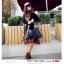 กระเป๋าแฟชั่นเกาหลี กระเป๋าแฟชั่นปักหมุด MAOMAOBAG ปั้มลายตารางสี่เหลี่ยมใหญ่สีดำ thumbnail 2