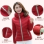 Pre-Order เสื้อโค้ทผู้หญิงแฟชั่น สีแดง มีฮู๊ด แขนจั๊ม แฟชั่นเกาหลี thumbnail 2
