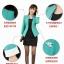 เสื้อสูทผู้หญิง สูทบาง ฝีมือตัดเย็บระดับ High -end นำเข้าจากประเทศเกาหลีแท้ แขนยาว สีส้มโอลด์โรส thumbnail 8