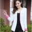 Pre-Order เสื้อสูททำงานแขนยาว เสื้อสูทผู้หญิง สูทลำลอง สีขาว แฟชั่นชุดทำงานสไตล์เกาหลีปี 2014 thumbnail 2