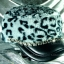 หมวกขนสัตว์นุ่ม ลายเสือโทนเทาดำ ทรงหัวตัด มีโซ่ด้านหน้า thumbnail 1