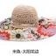 Pre-order หมวกปีกกว้างแฟชั่นฤดูร้อน กันแดด กันแสงยูวี สวยหวานเรียบหรู ดูดี สีครีมดอกแดง thumbnail 2