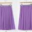 Pre-Order กระโปรงจีบรอบตัว กระโปรงผ้าชีฟอง มีผ้าโปร่งอยู่ชั้นนอก ความยาวคลุมเข่า สีม่วง เสื้อผ้าแฟชั่นสไตล์เรโทร วินเทจ thumbnail 3