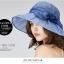 Pre-order หมวกผ้าไหมแท้ติดโบว์ดอกไม้แฟชั่นฤดูร้อน กันแดด กันแสงยูวี สวยหวาน สีฟ้าอ่อน thumbnail 2