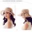 Pre-order หมวกผ้าไหมติดโบว์แฟชั่นฤดูร้อน กันแดด กันแสงยูวี สวยหวาน สีกาแฟอ่อน thumbnail 4