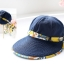 Pre-order หมวกแฟชั่น หมวกแก็ปปีกกว้าง หมวกฤดูร้อน กันแดด กันแสงยูวี สีบลูยีนส์แต่งด้วยผ้าพิมพ์ลายดอกไม้ thumbnail 4