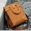 Pre-Order กระเป๋าธุรกิจ กระเป๋าสพาย กระเป๋าหิ้ว หนังแท้ สไตล์ย้อนยุค (Retro) สีน้ำตาลกาแฟ thumbnail 1