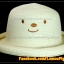 หมวกสาน หน้ายิ้ม สีขาวปีกรอบม้วน น่ารักมากกกกก !!! thumbnail 1